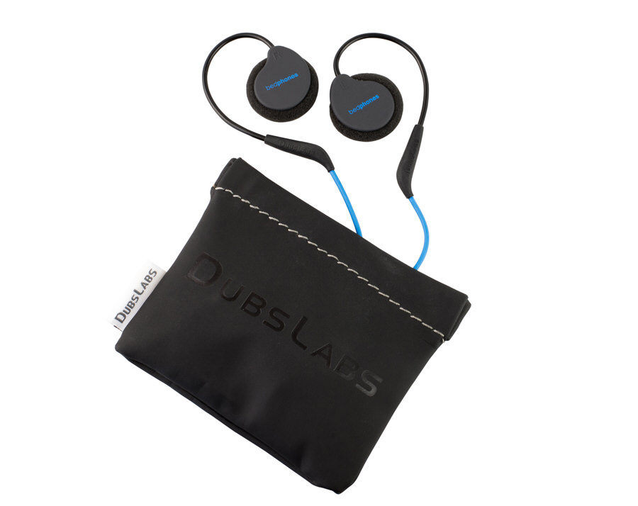Bedphones Wireless with their included travel pouch