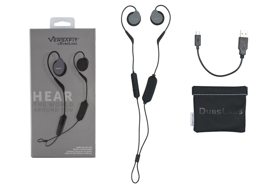 What comes in the box with Versafit Wireless Sport Headphones