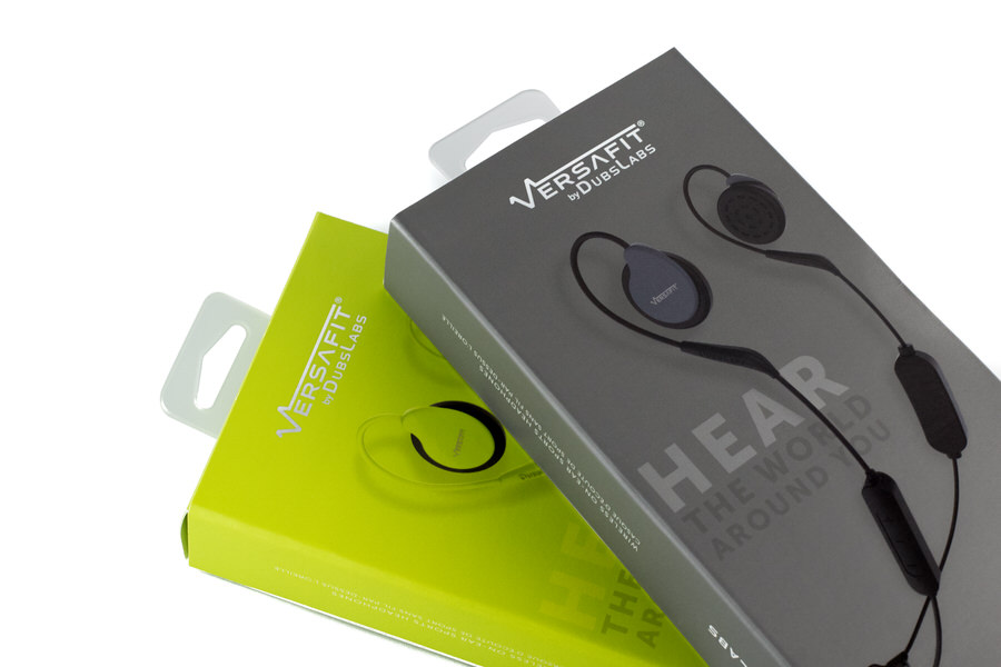 Close-up image of both Covert Gray and Intrepid Green Versafit retail boxes